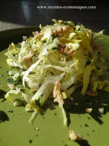 salade endives noix persil