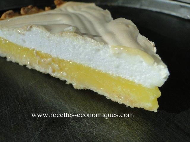 Tarte au citron meringu thermomix tr s bonne recette et rapide - Recette dessert rapide thermomix ...