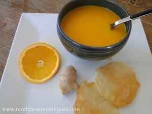 soupe carottes gingembre miel