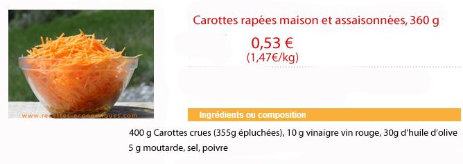calcul carottes maison