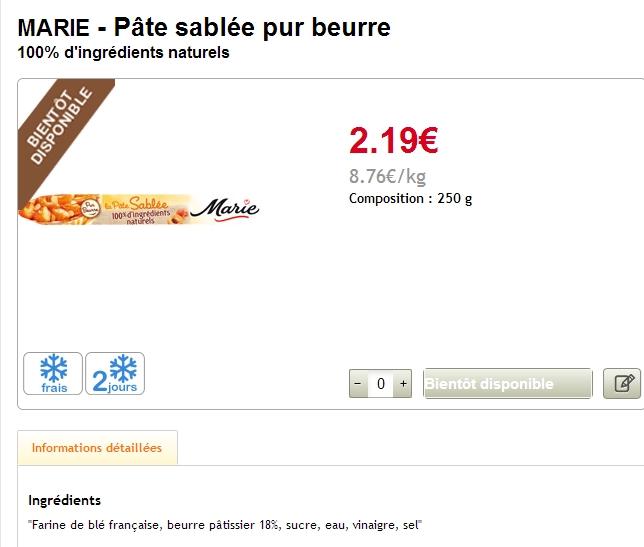 marie naturel 8,76€