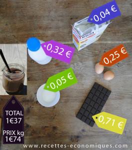 prix mp creme chocolat