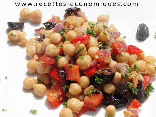 Salade de pois chiches une entr e conomique et r ussie - Cuisine economique 1001 recettes ...