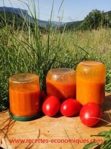 mon coulis de tomates pour l'hiver