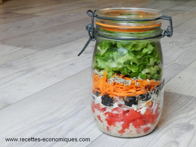 Entr es archives recettes economiques - Salade en bocal ...