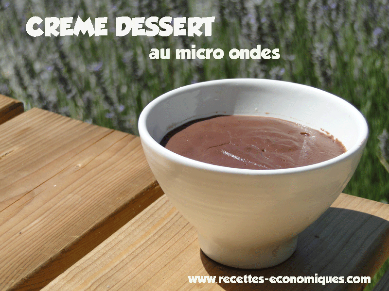 cr me dessert au micro ondes recettes de cuisine avec thermomix ou pas. Black Bedroom Furniture Sets. Home Design Ideas