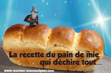 Le pain de mie qui déchire…