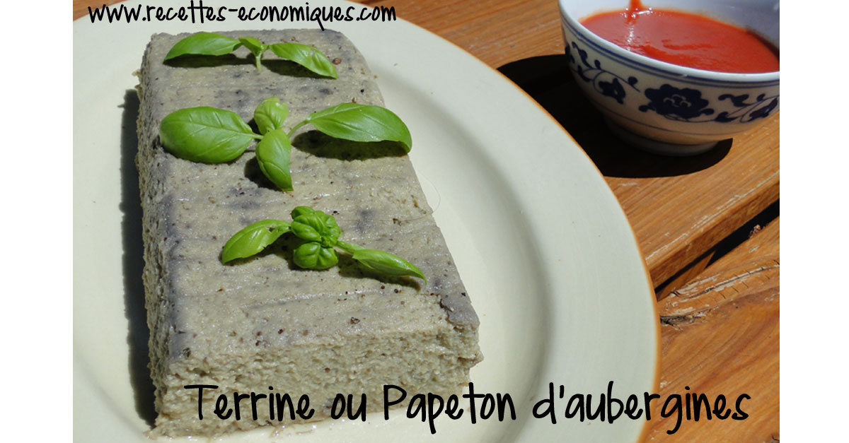 terrine ou papeton d 39 aubergines recettes de cuisine avec thermomix ou pas. Black Bedroom Furniture Sets. Home Design Ideas