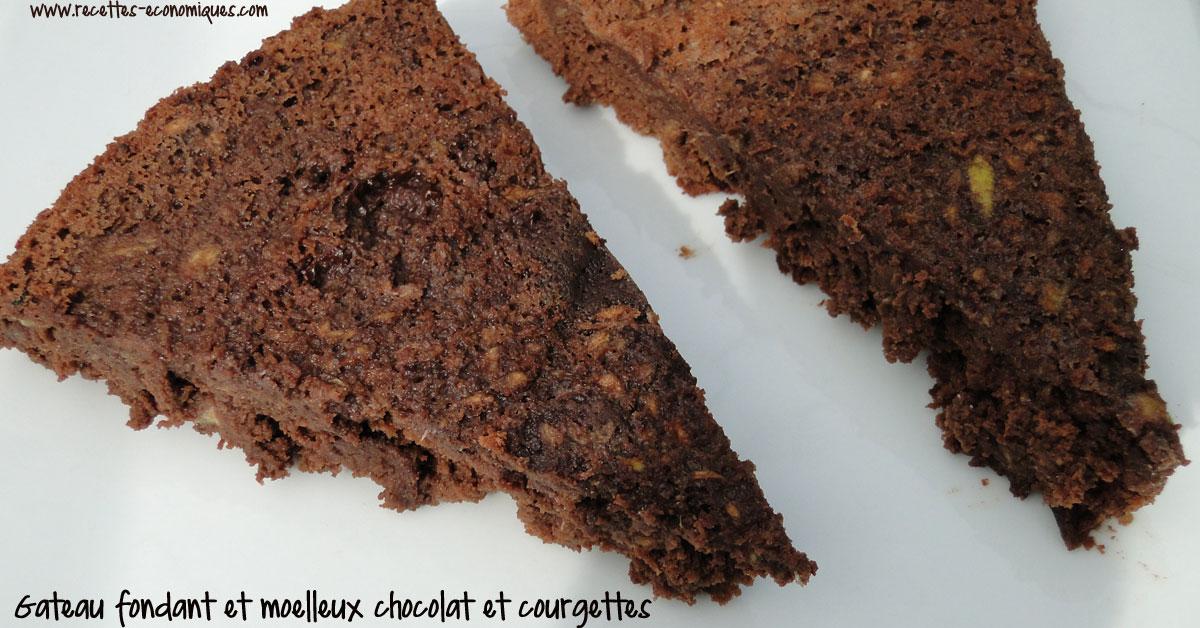 Gateau Extra Fondant Chocolat Courgettes Recettes De Cuisine Avec