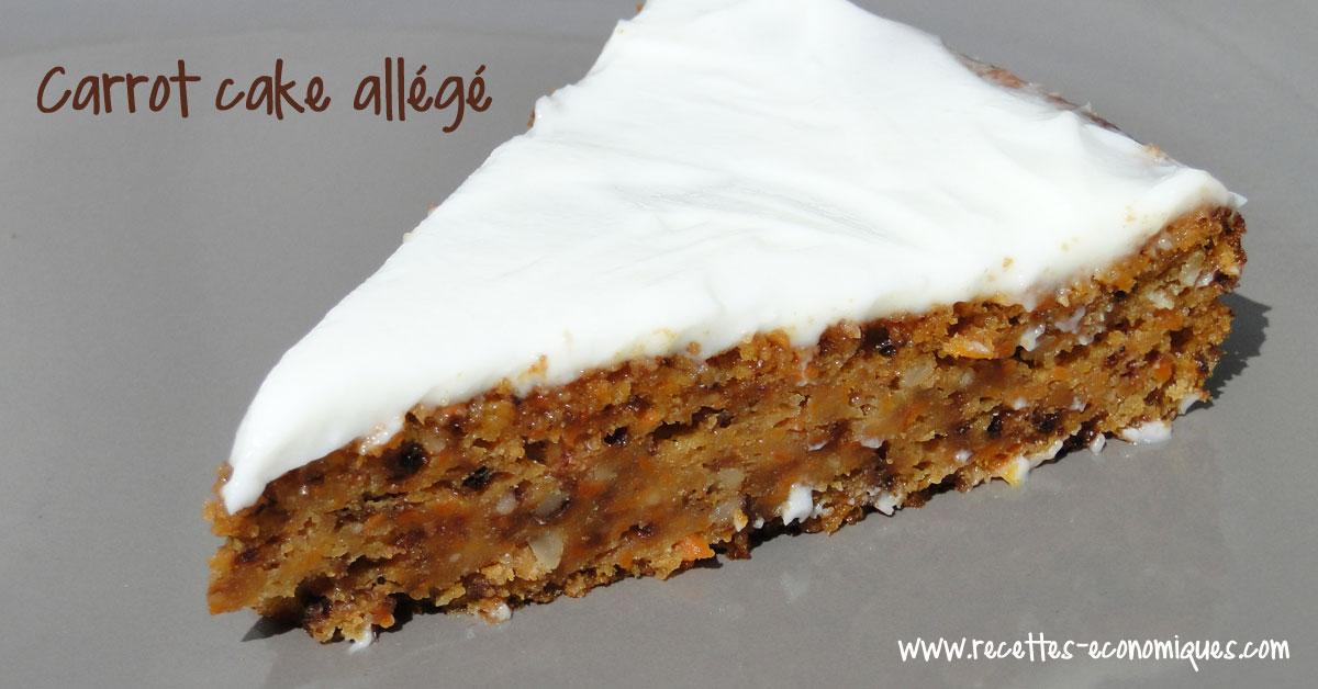 Carrot cake all g avec gla age fromage blanc recettes de cuisine avec thermomix ou pas - Recette carrot cake americain ...