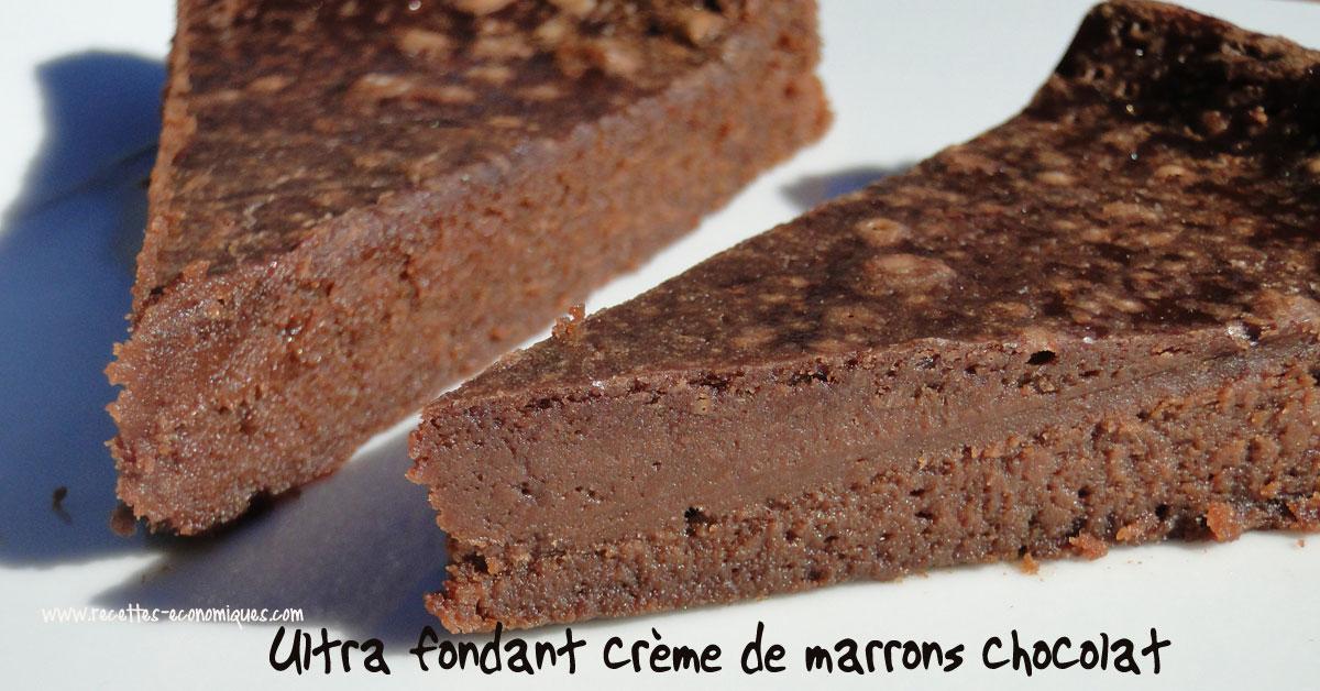 G teau moelleux au marron thermomix g teau - Gateau chocolat creme de marron ...