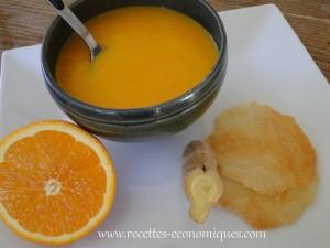 soupe carottes gingembre miel thermomix