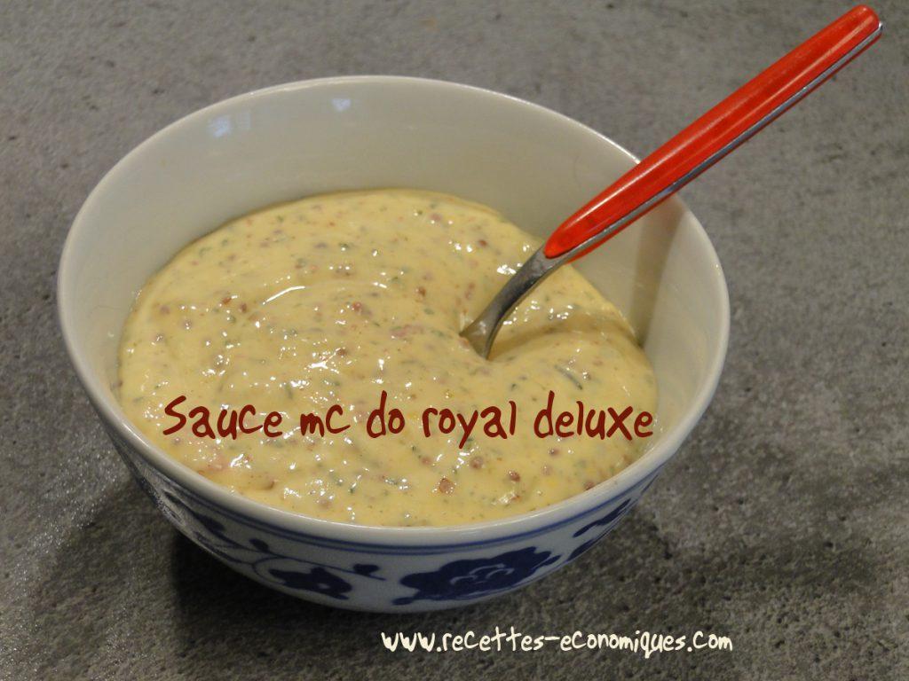 sauce mc do royal deluxe