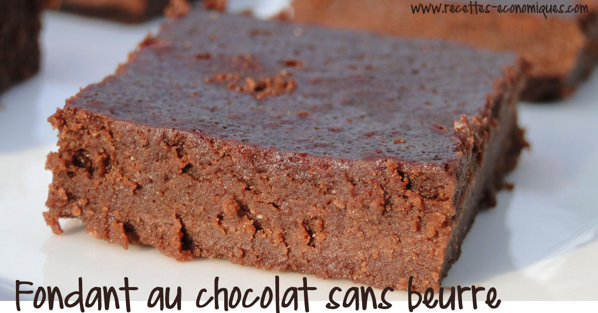 recette du fondant au chocolat sans beurre avec de la ...