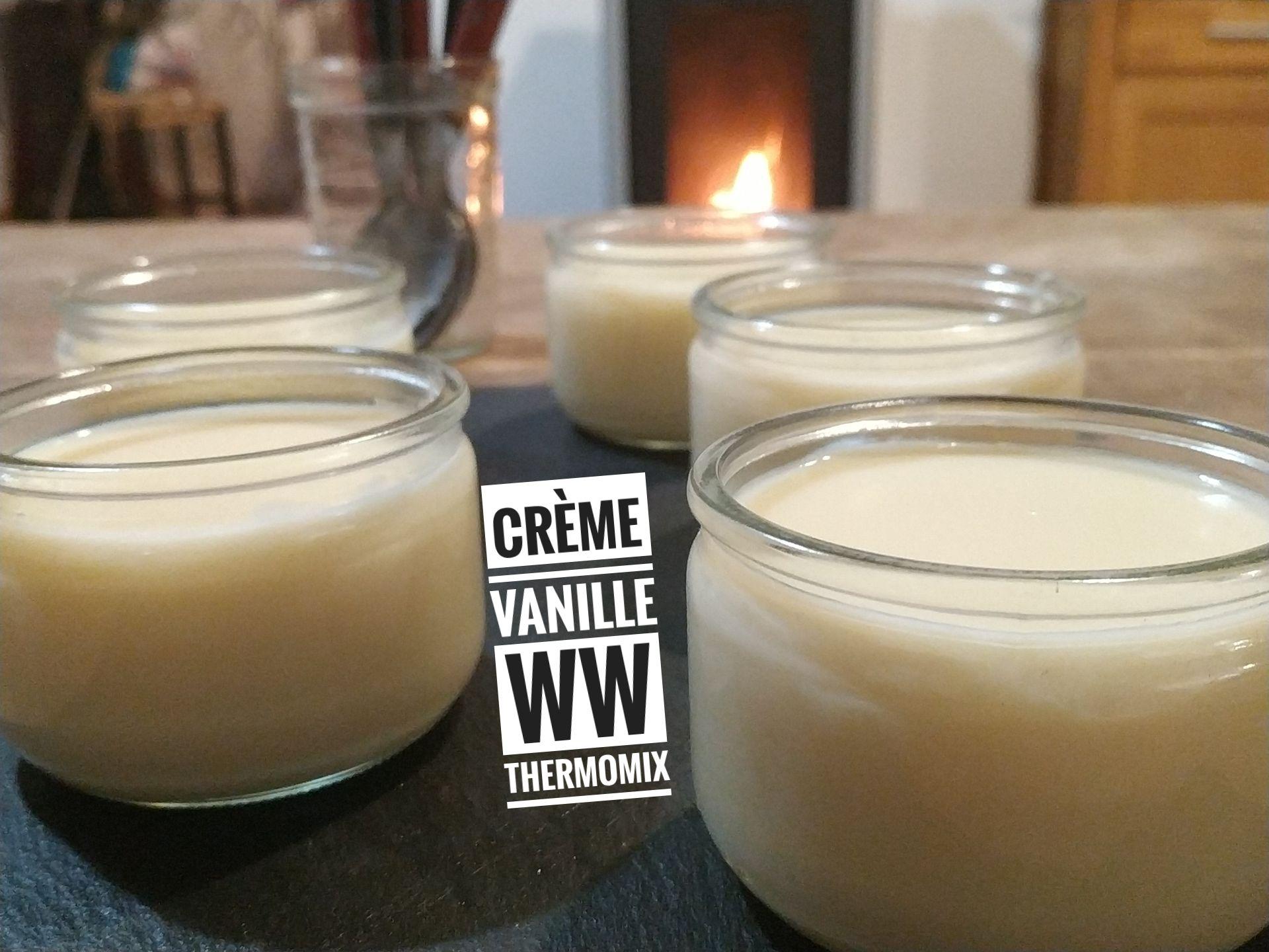 recette creme vanille ww thermomix - recettes de cuisine
